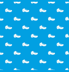 Baseball cleat pattern seamless blue vector