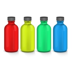 colorful plastic bottles vector image