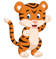 Cute tiger cartoon vector