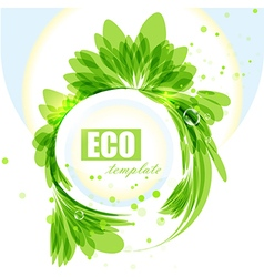 Eco frame vector