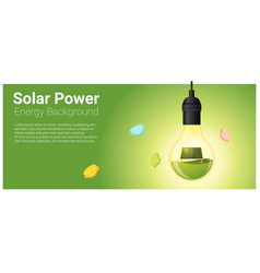 energy concept background with solar panel vector image vector image