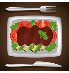 Food and gastronomy graphic design vector image vector image
