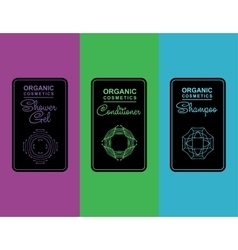 Label for organic cosmetics shampoo vector