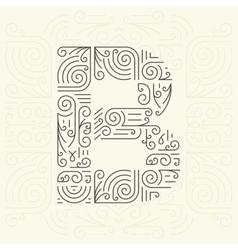 Letter B Golden Monogram Design element vector image vector image
