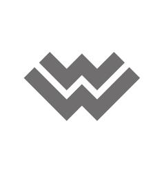 Letter w logo concept icon vector