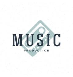Music type logo hand drawn vintage design vector