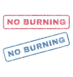 no burning textile stamps vector image