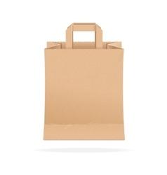Paper bag eco sale vector