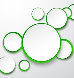 Paper white-green round speech bubbles vector image vector image