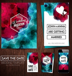 Save the date for personal holiday set of wedding vector