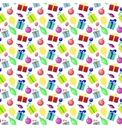 Seamless pattern background with new year and vector image vector image