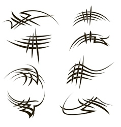 Set of different tribal tattoo design vector