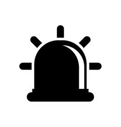 Siren or beacon silhouette icon image vector