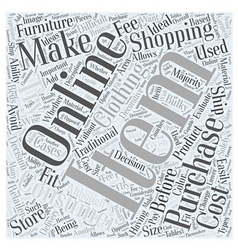 When online shopping is not ideal word cloud vector