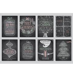 xmas flyers doodle vector image vector image