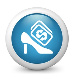 Stiletto buying glossy icon vector