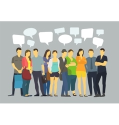 Many ordinary people crowd talking communication vector