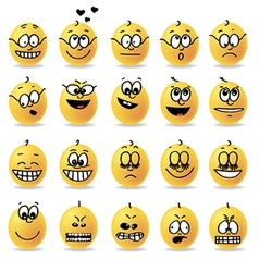 smiley emotions moods vector image