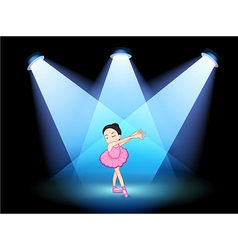 A stage with a ballet dancer at the center vector