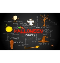 Halloween typography vector
