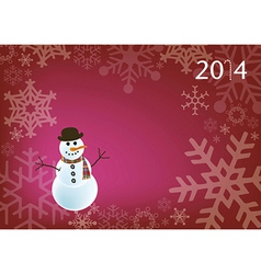 Holiday snowman vector
