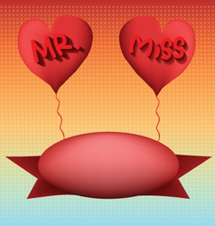 Love mr and miss vector
