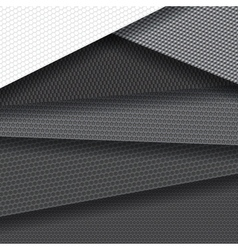 Background of several carbon fiber patterns vector