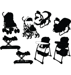 Baby equipment - vector