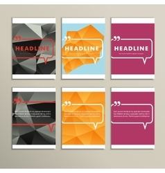 Set of brochures for design in abstract style vector