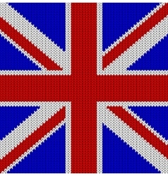 Knitted flag of the united kingdom vector