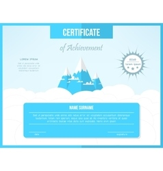 Certificate template for achievement bright vector