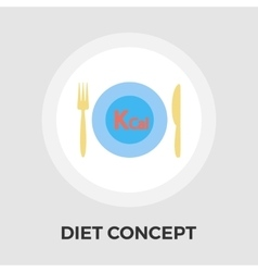 Diet concept flat icon vector