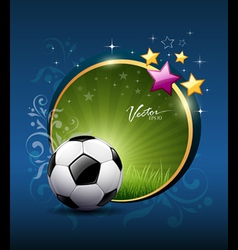 Artistic soccer ball design vector image