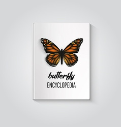 Hardcover of book butterfly encyclopedia vector image