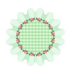 Green napkin style shabby chic vector