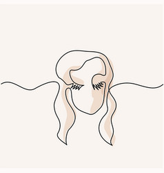 abstract portrait of a woman logo vector image vector image