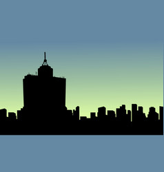 at sunrise mexico city scenery silhouettes vector image vector image