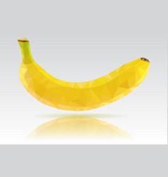 Banana single yellow fruit polygonal vector