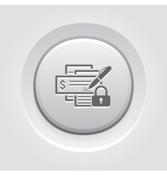 Banking security icon vector