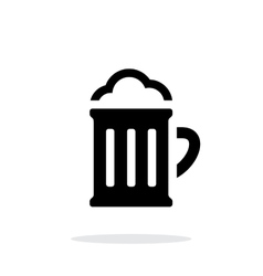 Beer glass pub simple icon on white background vector image vector image