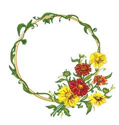 Bouquet wreath vector