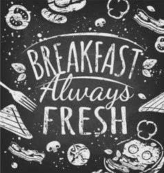 Breakfast poster vector
