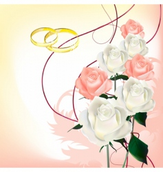 Bridal bouquet vector