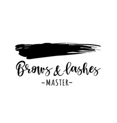 Brows and lashes logo vector