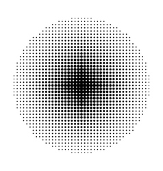 Circle halftone geometric shapes dot abstract vector