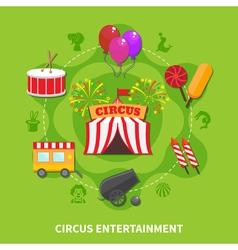 Circus entertainment concept vector