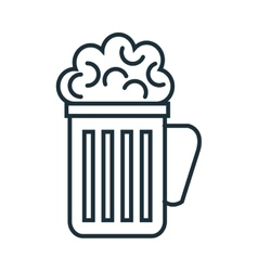 Cold and delicious beer glass vector image vector image