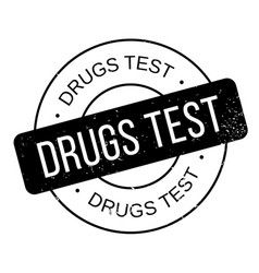 Drugs test rubber stamp vector