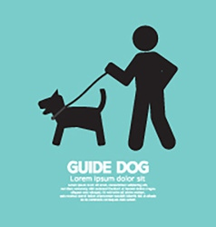 Guide dog graphic symbol vector