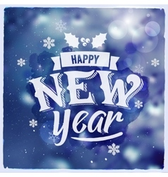 Happy New Year Creative graphic message for vector image vector image